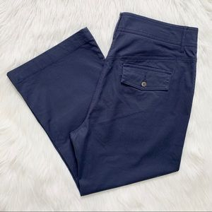 Tommy Hilfiger Navy Blue Relaxed Fit Cropped Pants